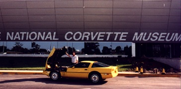 Keith and ZR-1 at the National Corvette Museum