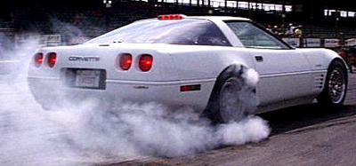 ZR1 burning rubber!